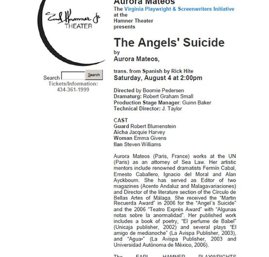 El suicidio  del Angel